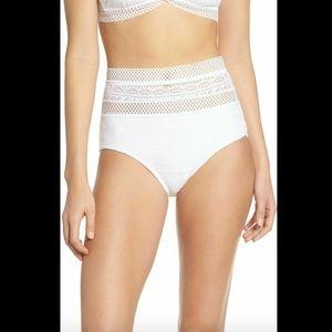 NEW $64 Becca Captured High Waist Bikini Bottoms